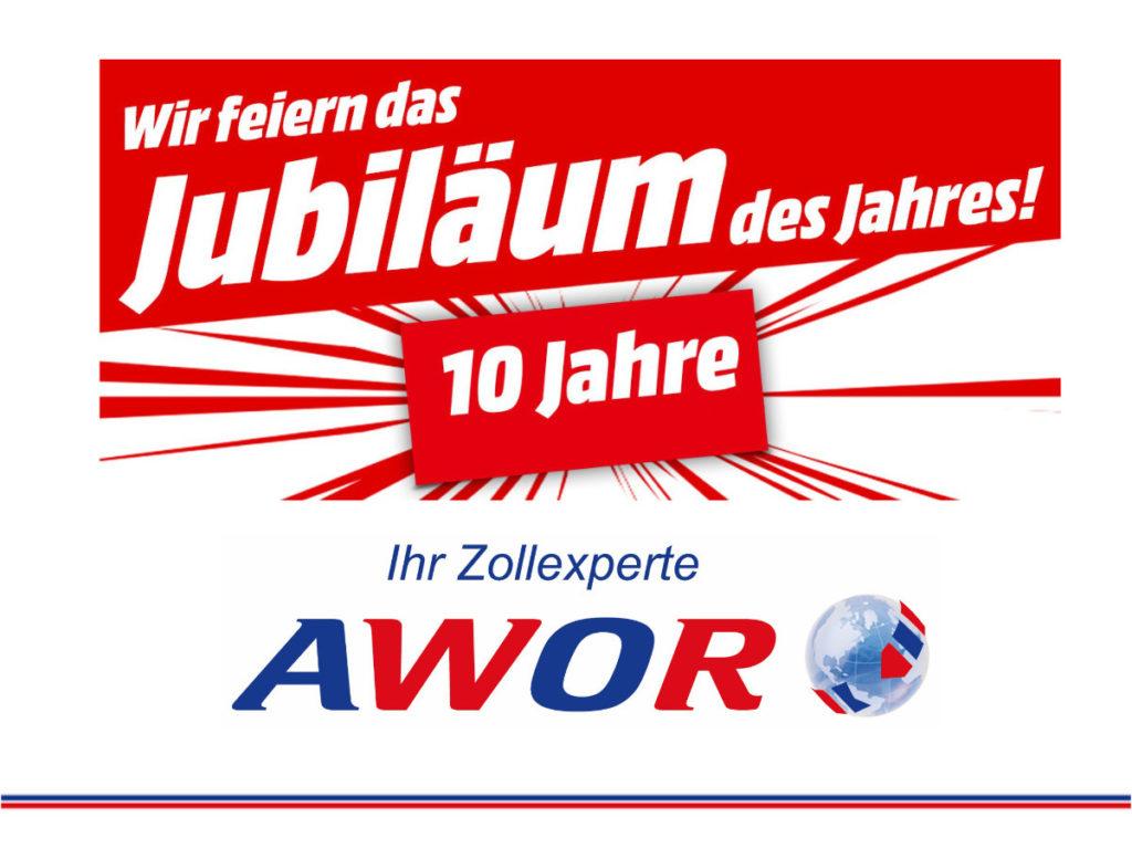 Zollberater seit 10 Jahren AWOR Customs GmbH